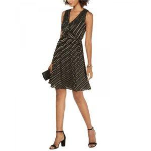 NWT Nine West Metallic Dot Fit & Flare Dress 2